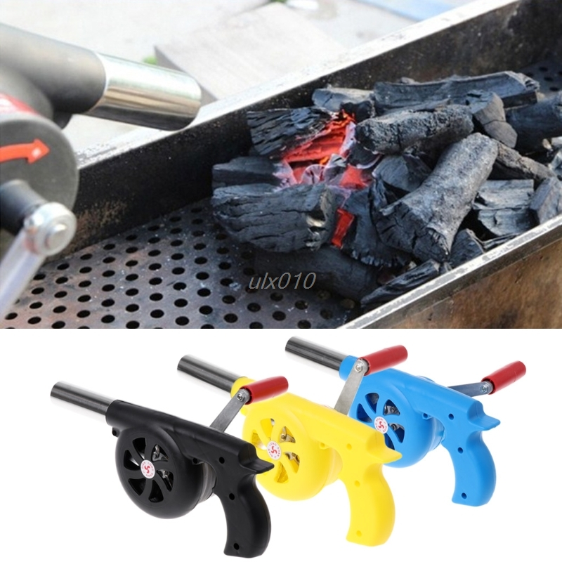 Outdoor Camping BBQ Air Blower Picnic Barbecue Cooking Fire Fan Hand Crank G18 Drop ship