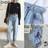 Светло-голубые mom-jeans