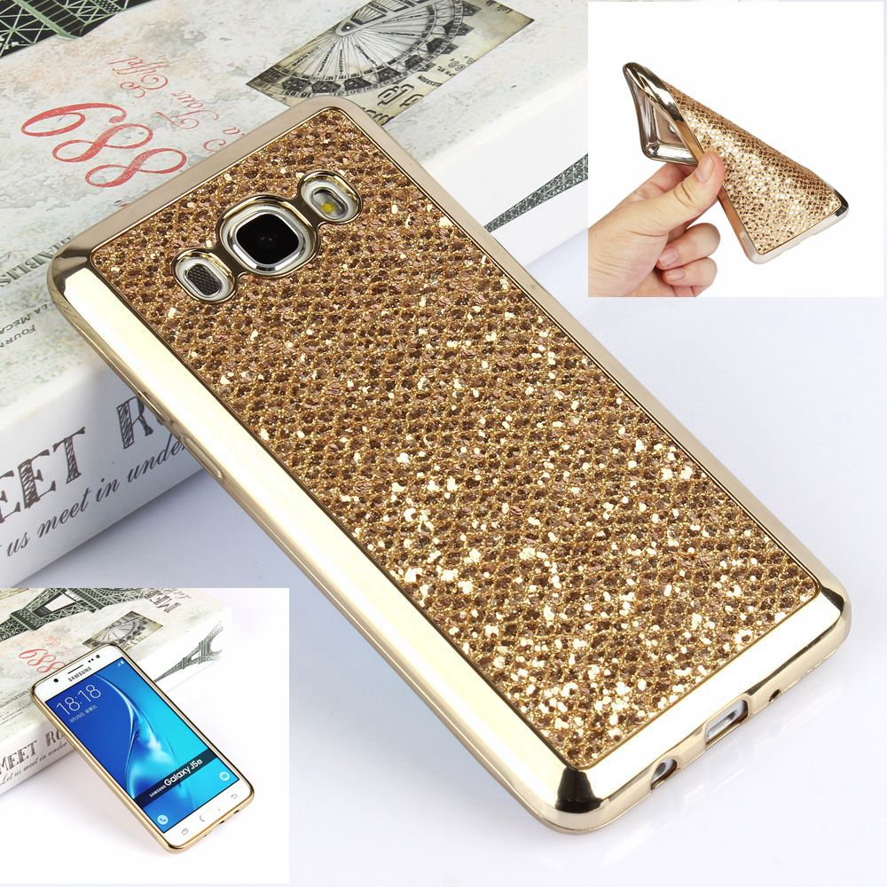 new product ad5ac 0f7ed US $1.29 10% OFF|Luxury Glitter Bling Case For Samsung Galaxy J5 2016 J510  J510F J510FN J5 2015 J500 J500F Soft Silicon Cover Capa fundas-in Fitted ...