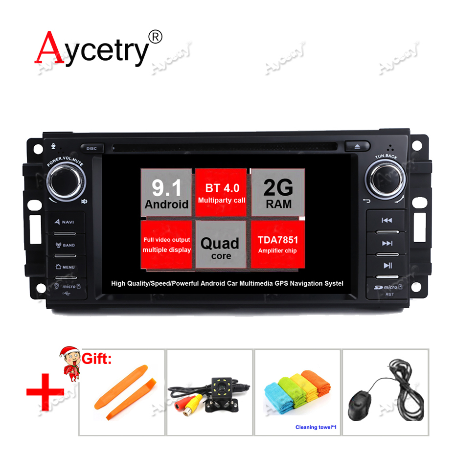 Vehicle Stereo Gps Navigation For Chrysler 300c Jeep Dodge: Acetry! Android 9.1 Car Multimedia DVD Player Radio For