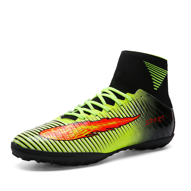 7ff9e9f9a0d Professional High Ankle Soccer Shoes Women Turf Futsal Boots Top Quality Men  Training Football Indoor Cleats Shoe Messi 35-44