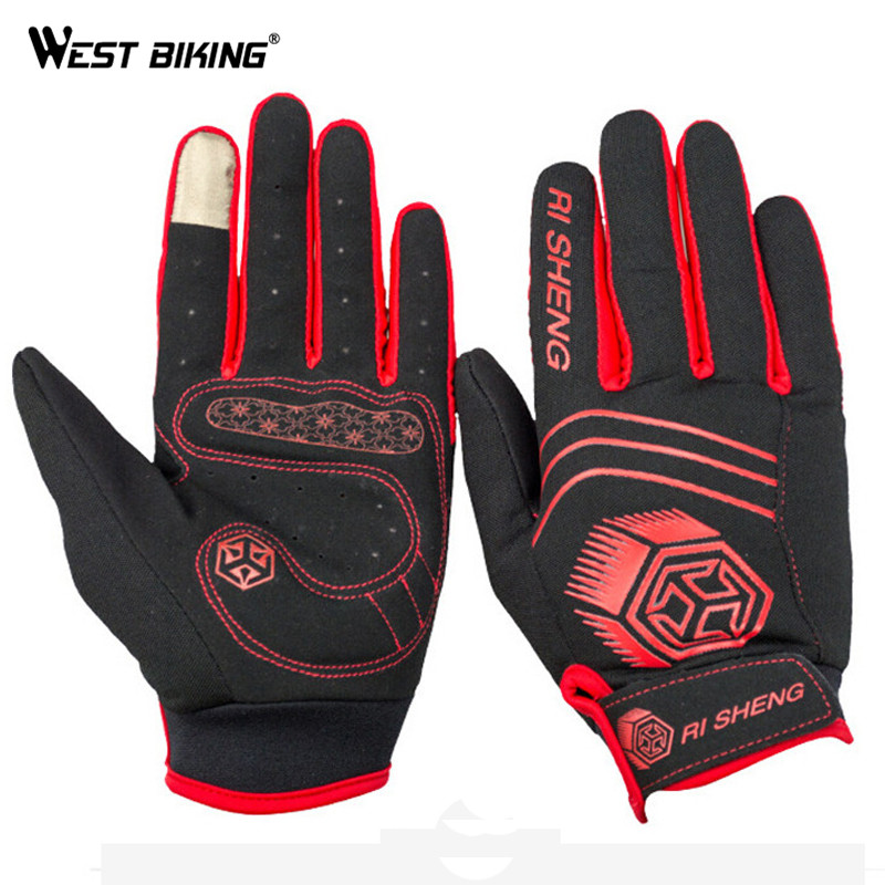 WEST BIKING Ski Gloves Guantes Ciclismo Thermal Windproof Warm Touch Luvas Sport Riding Camping Hiking Snowboard Skiing Gloves