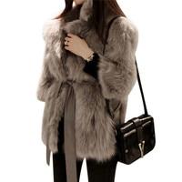 Winter Women Warm Thick Luxury Mink Coats Ladies Fluffy Faux Fur Jacket Fake Rabbit Fur Coat Femme 2XL Plus Size