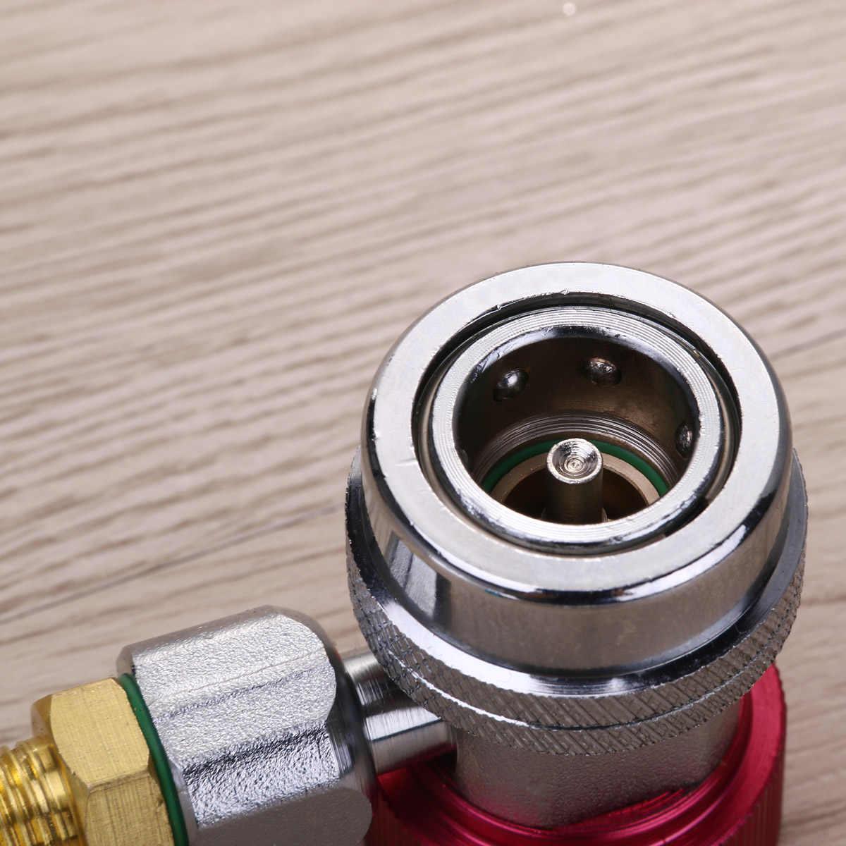 Peças Do Carro Auto Ar Condicionado R134a 2 Conector do Adaptador de Engate rápido (Blue & Red) A20