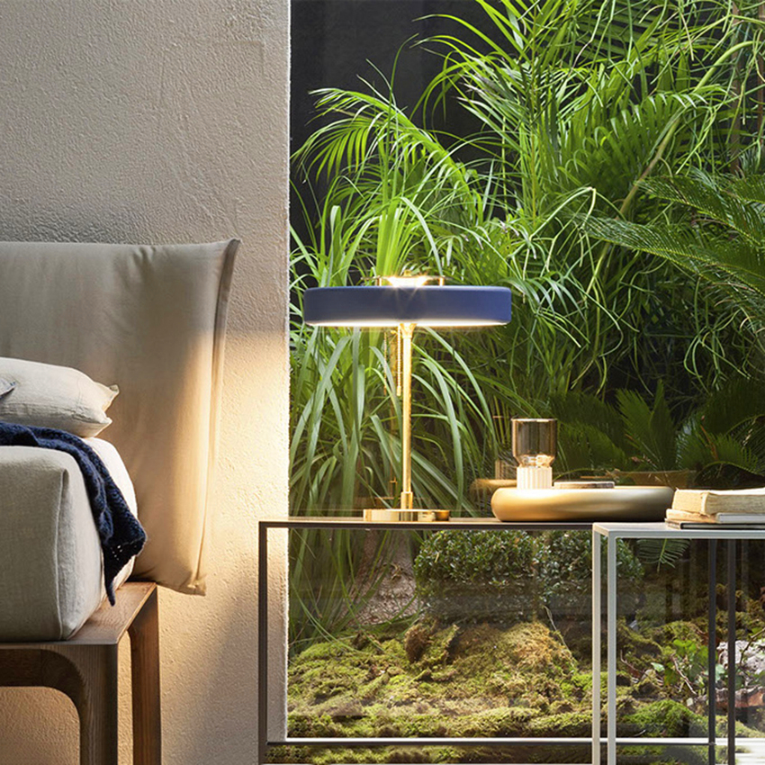 Modern Glass Table Lamps Bedroom Bedside LED LOFT Indoor Home Lighting Desk Lamp Study Desk Wrought Iron Table Lights Decoration