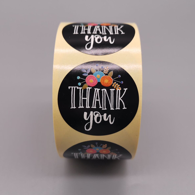 """Round 38mmX38mm""""THANK YOU"""" Stickers seal labels 500 Labels stickers scrapbooking for Package stationery sticker"""