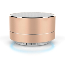 Portable Metal Wireless Bluetooth Speaker with Microphone Super Bass Stereo Mini Support TF Card Sound Loudspeaker for Phone TV