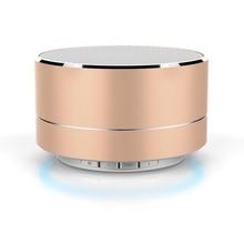 De Metal portátil Altavoz Bluetooth Inalámbrico con Micrófono Estéreo Bajo Estupendo Mini Tarjeta DEL TF Del Altavoz de Sonido para el Teléfono TV