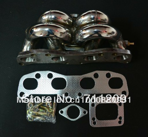 где купить EXHAUST MANIFOLD FOR NISSAN GSP S13 180SX CA18DET CA18 STAINLESS RAM HORN TOP MOUNT T3 FLANGE TURBO MANIFOLD дешево