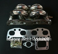 EXHAUST MANIFOLD FOR NISSAN GSP S13 180SX CA18DET CA18 STAINLESS RAM HORN TOP MOUNT T3 FLANGE TURBO MANIFOLD