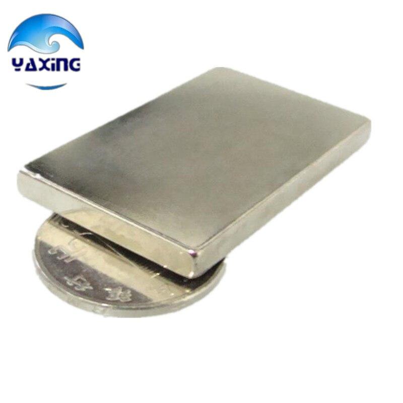2 pcs/pack neo aimants 60x40x5mm Forte Cuboid Magnet Bloquer Rare Earth aimants néodyme vente chaude