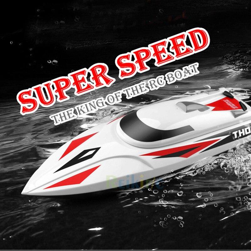 Haute Vitesse RC 25 km/h Télécommande Racing Bateau 2.4 ghz 4CH Haute Vitesse RC bateau pour la pêche bateau bait bateau avec LCD