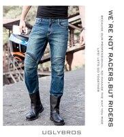 UglyBROS ОБП 04 Перине джинсы стандартная версия автомобиля ездить джинсы брюки Мото джинсы Падения Синие джинсы