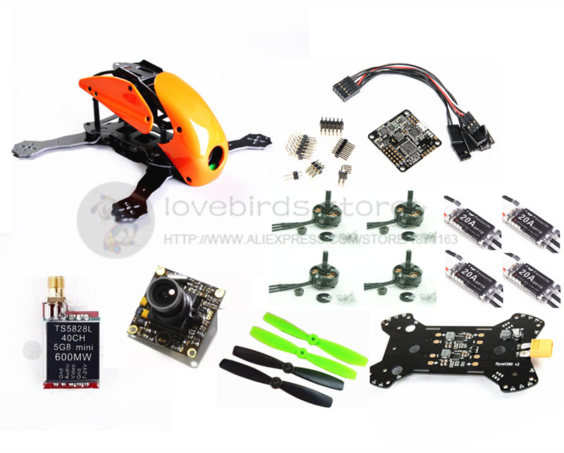 DIY mini drone Robocat 270 V3 quadcopter pure carbon frame kit cobra 2204 2300KV motor+littlebee 20A+NAZE32 10DOF+TS5828L VTX fpv arf 210mm pure carbon fiber frame naze32 rev6 6 dof 1900kv littlebee 20a 4050 drone with camera dron fpv drones quadcopter