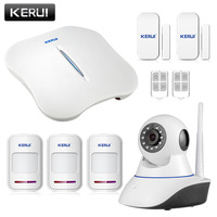 KERUI W1 WiFi Wireless PTSN Voice Home Burglar Security Alarm System IOS Android APP Control With