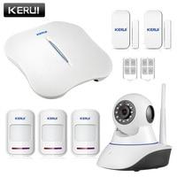 KERUI W1 WiFi Wireless PTSN Voice Home Burglar Security Alarm System IOS Android APP Control With