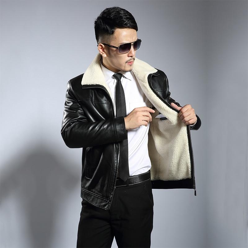 Popular Fleece Lined Leather Jacket-Buy Cheap Fleece Lined Leather ...
