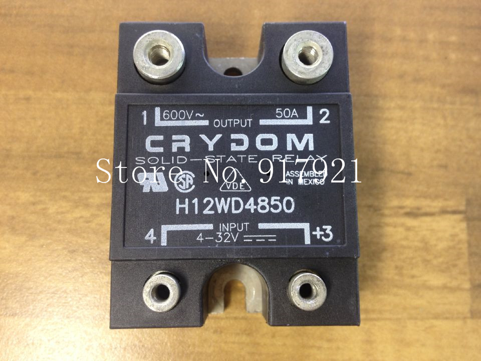 [ZOB] The original American Crydom up to H12WD4850 import 50A solid state relay 600V 3-32V --2pcs/lot [zob] united states crydom qantas cmd24125 10 import 125a120 240v3 32v solid state relay 2pcs lot
