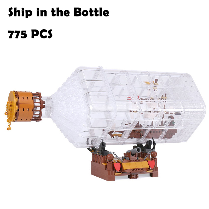 Model Building Blocks toys 16045 775pcs The Ship in the Bottle compatible with lego Creative Series Educational DIY toys hobbies 2015 high quality spaceship building blocks compatible with lego star war ship fighter scale model bricks toys christmas gift