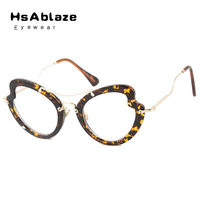 HsAblaze Eyewear High Quality Cat Eye Female Sunglasses Gold Metal Eyeglasses Sun GlassesBrand Designer Eyewear Mirror Oculos