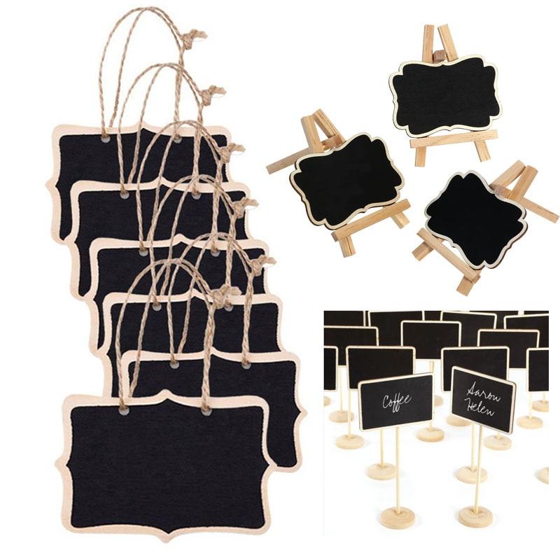 Keretes fa táblás kréta tábla csapok, Palatábla klipek Esküvői asztal dekoráció, Teríték, Party Favor