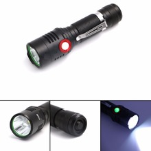 XML L2 USB Rechargeable Flashlight 2000lm Adjustable Brightness 2 Modes LED flashlight Lamp Tactical Torch Lantern by 18650