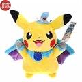 OHMETOY Poke Vampire Pikachu Cosplay Batman Stuffed Toy Baby Dolls Anime Bonecas 24cm Kids Brinquedos Juguetes Gift