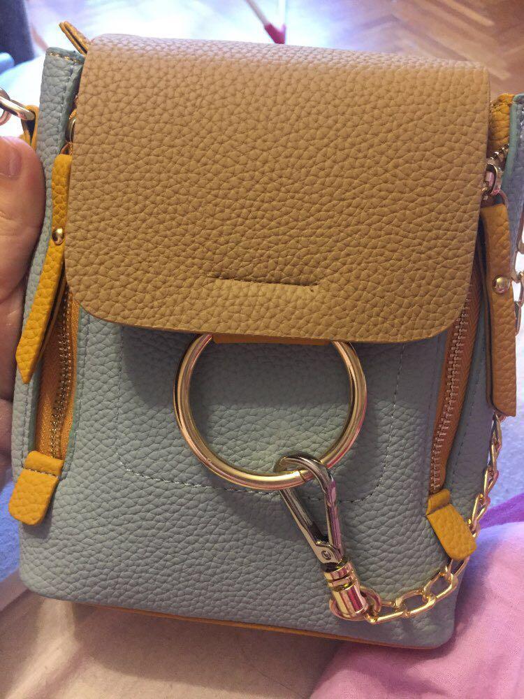 HTB15mr7UNTpK1RjSZFKq6y2wXXab DORANMI Leather Women's Backpack Back Shoulder Bags 2019 Contrast Color Chain Rucksack Female Small Schoolbag Mochila Mujer B077