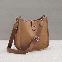 Luxury Famous Women Genuine Leather Handbag 2019 Fashion Brand Bucket Bags Designer Cow Leather Female Shoulder Bag for Ladies