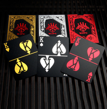 3 color Gold Silver Red Foil Plated plastic Poker Game Playing Cards Gift Collection Black Poker cards play trick gift