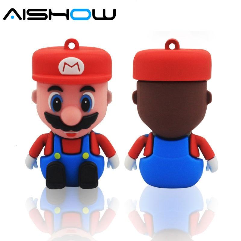 Super Mario USB ֆլեշ սկավառակ նվերներ գրիչ - Արտաքին պահեստավորման սարքեր - Լուսանկար 2