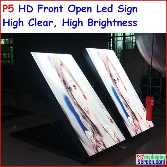 """P5 ao ar livre dupla face levou sinal, 96 cm x 192 cm, 37.8 """"x 75.6"""" IP65 Design, Alta Claro, Alto brilho, p6, p8, p10"""
