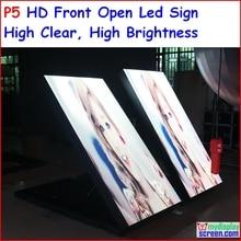 P5 открытый двухсторонний светодиодный знак, 96 см х 192 см, 37.8 «x 75.6» IP65 Дизайн, Высокая Ясно, Высокая яркость, p6, p8, p10