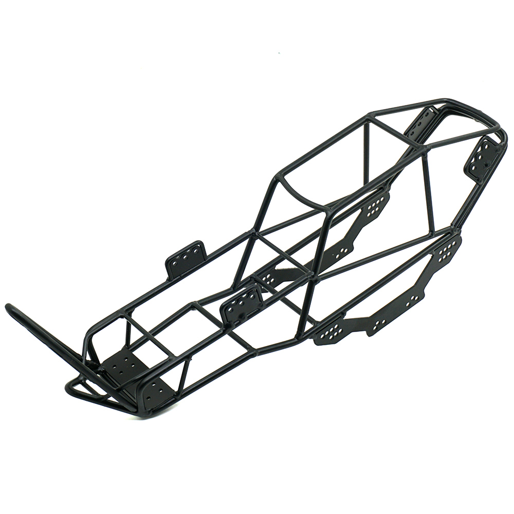 1Pcs Climbing car Metal Frame Roll Cage Crawler Body Black Chassis for 1 10 SCX10 style