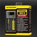 Orignal nuevo nitecore intellicharger i2 cargador de batería universal para cr123a 16340 10440 aa aaa li ion 14500 18650 26650 22650