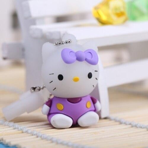 HOT Hello Kitty Usb Flash Drive 32GB Pen Drive 64GB Pendrive 128GB 8GB 16GB Cartoon Pendrives Flash Card Memory Stick 512GB