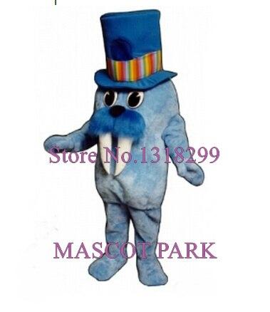 Mascotte bleu morse mascotte Seaquarium Aquarium costumes adulte personnage de dessin animé éléphant sceau thème mascotte déguisements