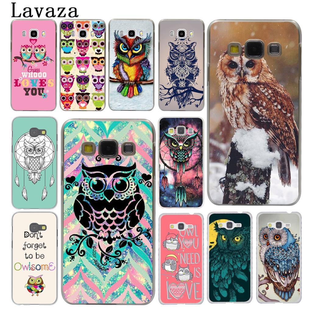 Lavaza owl art lovely Hard Phone Case for Samsung Galaxy J7 J1 J2 J3 J5 2015 2016 2017 Prime Pro Ace 2018 Cover