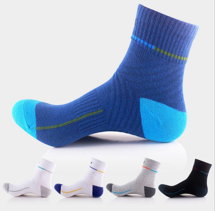 Prix pour Lumineux couleur de compression chaussettes hommes qualité Nylon Sportives Chaussettes