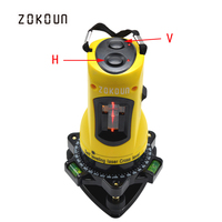 ZOKOUn M02H 360 degrees rotary slash functional self leveling hight adjustable DIY economic 2 (1V, 1H) cross lines laser level