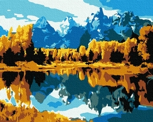 framed lakes and mountains home decor quadros picture painting by numbers diy digital oil painting on canvas living room 4050