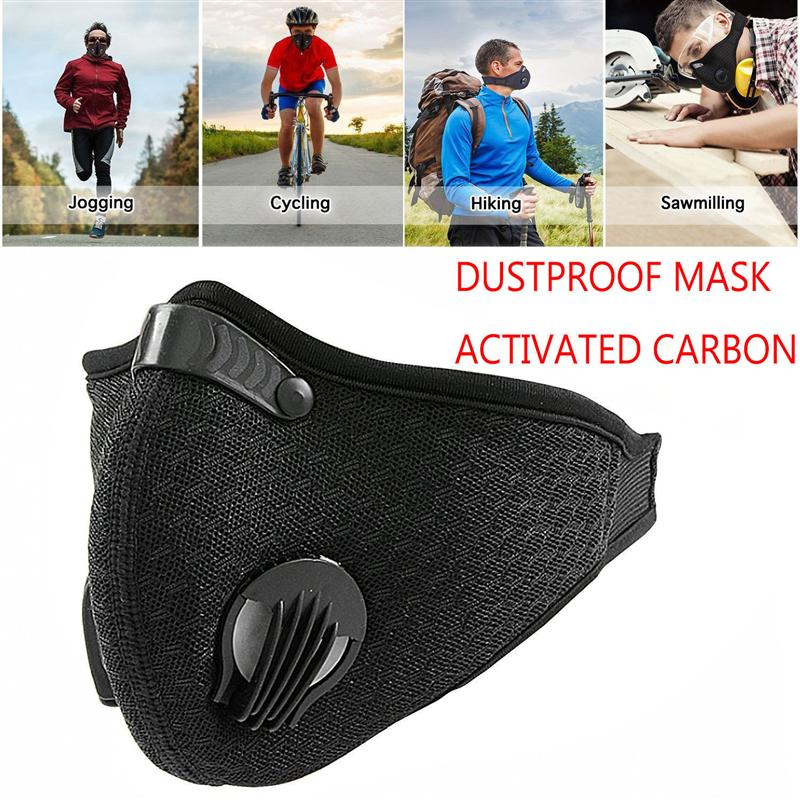 Cycling Face Mask Activated Carbon Dustproof Mask Extra Filter Cotton Sheet Valves for Running Cycling Outdoor Activities