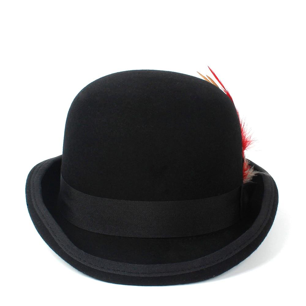 Mens Tuxedo Victorian Steampunk Black Costume Top Hat Deluxe Felt High Wool Hat