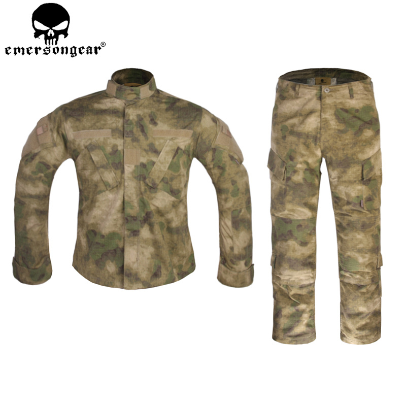 EMERSONGEAR Army BDU Tactical Uniform Combat Shirt Pants Military Camouflage Clothing Hunting Outfit Atfg EM6923 outdoor hunting clothes us army tactical uniform men camouflage suit military combat uniform set shirt pants acu camo clothing