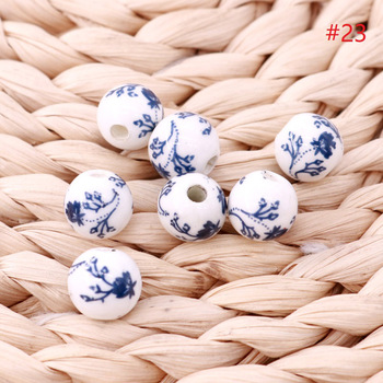 Fashion Round Shape Porcelain Bead For Jewelry Making 12mm Jewlery&Accessories ceramics beads 500pieces/lot Wholesale