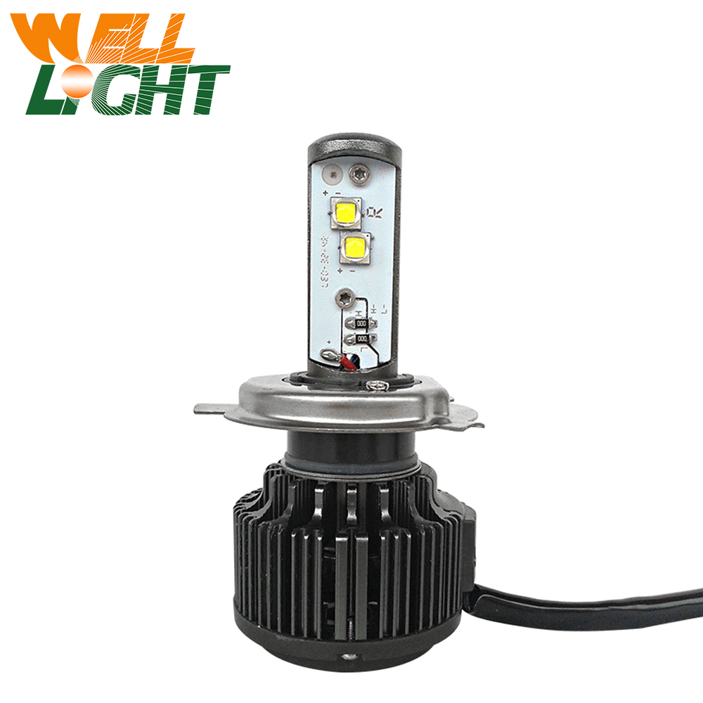 1piece New H4 40W 4000LM LED Motorcycle Headlight Bulb Headlamp High Low Conversion Beam Driving Headlamp