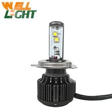 1 unidades nuevo h4 40 w 4000lm led linterna de la motocicleta bombilla del faro de alta baja conversión de haz luces de conducción faro moto