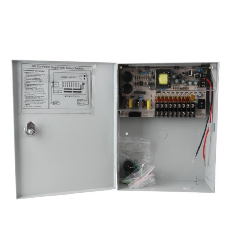 12V 10A Uninterrupted Power Supply 9CH Backup Switching Power for accumulator battery AC110V 220V IN