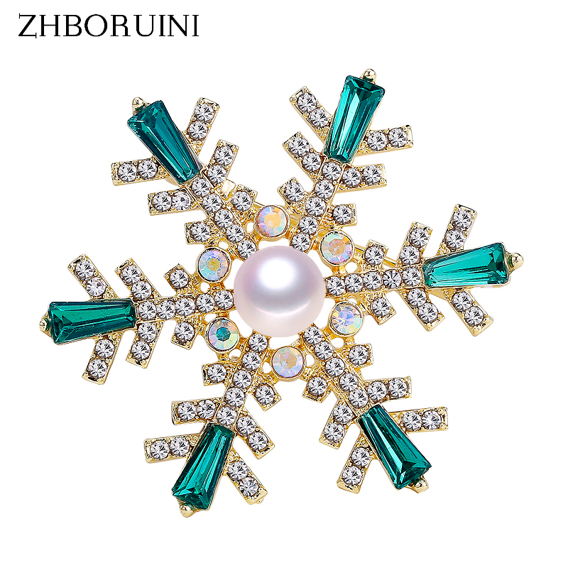 3e9815893b2 ZHBORUINI 2019 High Quality Natural Freshwater Pearl Brooch Pearl Snowflake  Brooch Pins Green Color Pearl Jewelry For Women Gift-in Hair Jewelry, Brooches ...