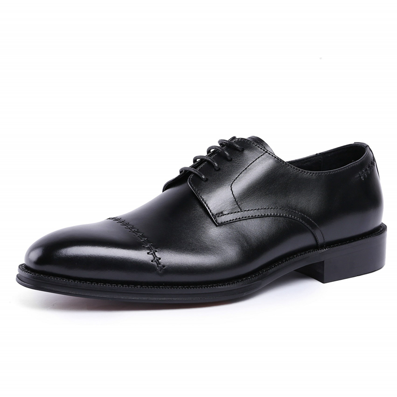 European Style Handmade Genuine Leather Men Black Red Formal Shoes Office Business Wedding Suit Dress Loafers Shoes JS-A0095European Style Handmade Genuine Leather Men Black Red Formal Shoes Office Business Wedding Suit Dress Loafers Shoes JS-A0095